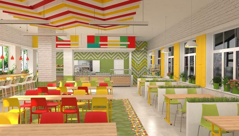 Дизайн інтер'єра шкільнї їдальні