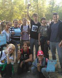 Вітаємо команду юних туристів та керівника, вчителя географії Курганову І.Ю!